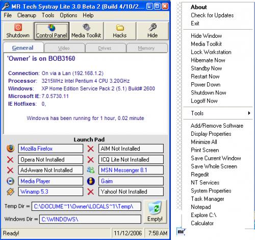 MR Tech Systray 3.0 Alpha