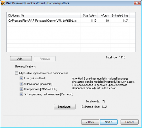 RAR Password Cracker 4.12