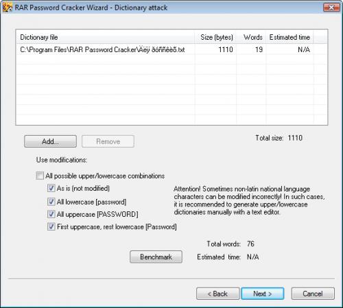 RAR Password Cracker 4.12