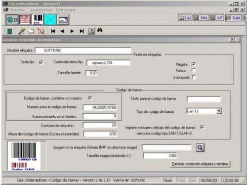 Codigo de barras Lite 1.0
