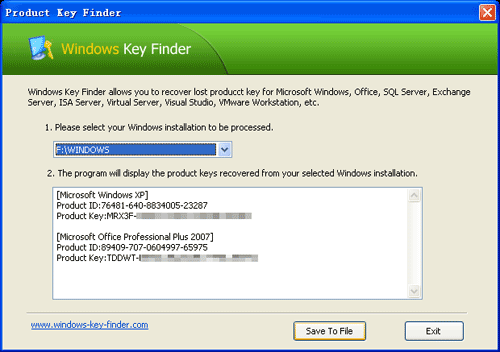 Windows Product Key Finder 2.2.6
