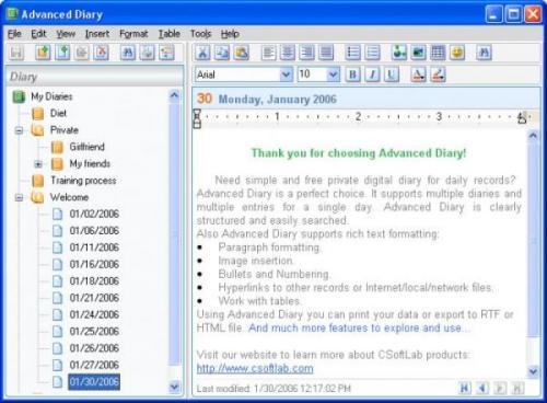 Advanced Diary 2.1