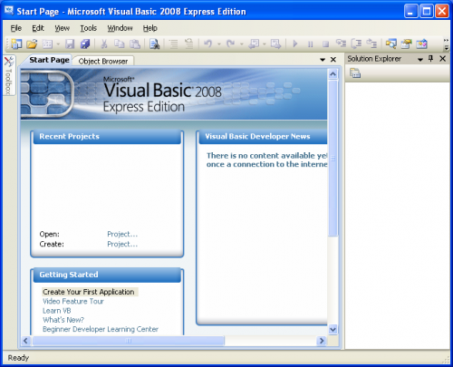 Microsoft Visual Basic 2008 Express 2008
