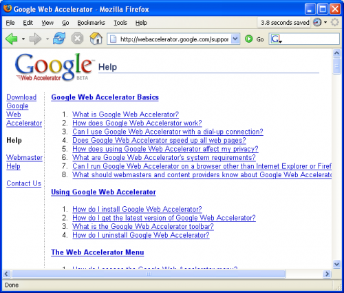 Google Web Accelerator 0.2.93.116