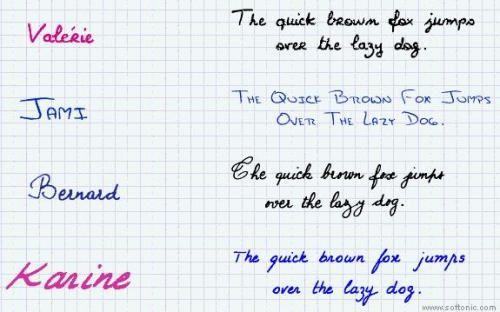 17 handwriting fonts 15.1