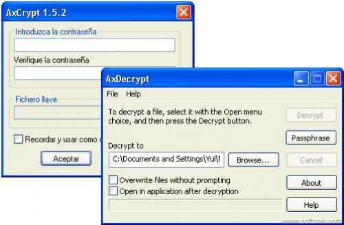 AxCrypt - Scarica 1.7.2614.0. 32b y 64b