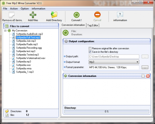 Free Mp3 Wma Converter 1.9