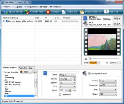 Koyote Free Video Converter - Scarica 3.0