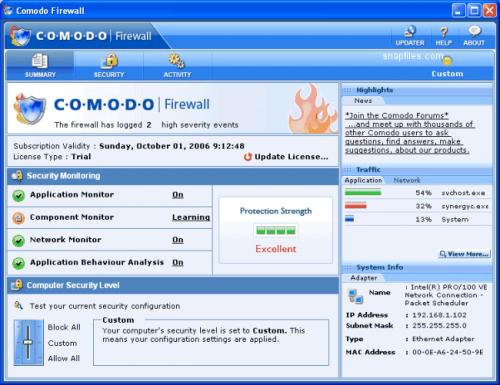 PC Tools Firewall Plus - Scarica 7.0.0.111